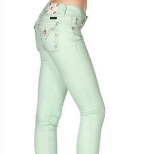 Miss Me honeydew skinny leg jeans size 30